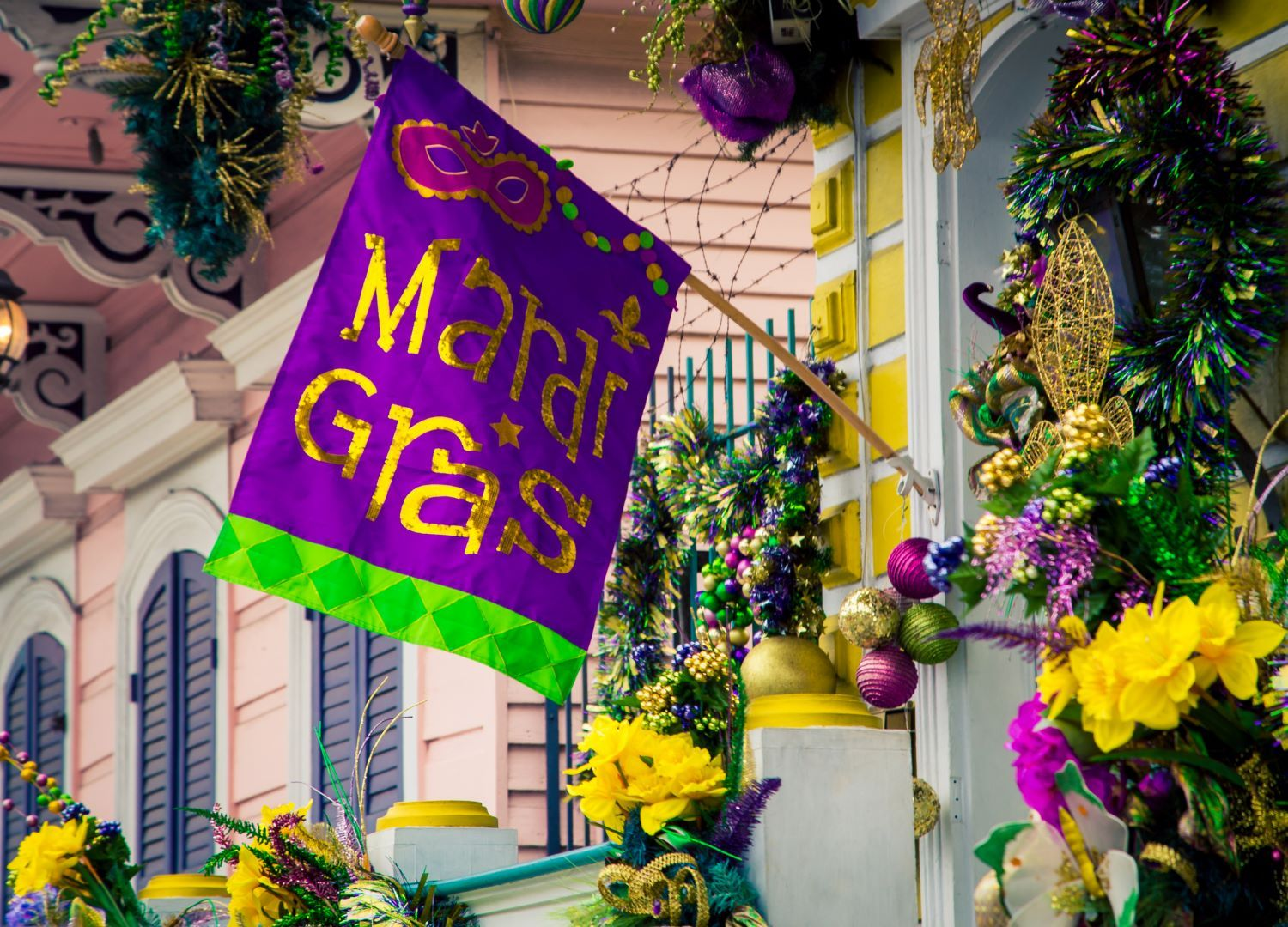 mardi gras flag celebration new orleans