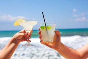 drinks at beach